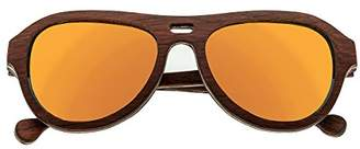 Earth Wood Clearwater Sunglasses W/Polarized Lenses - Zebra Rosewood/Yellow
