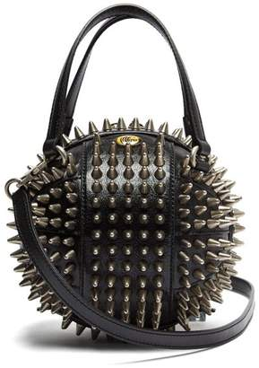 Gucci Tifosa Basketball Studded Leather Shoulder Bag - Womens - Black
