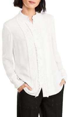 Brooks Brothers Soft Ruffle Long-Sleeve Blouse