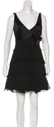 Tibi Silk Sleeveless Empire Mini Dress
