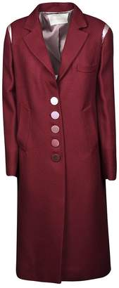 Marco De Vincenzo Single Breasted Buttoned Long Coat