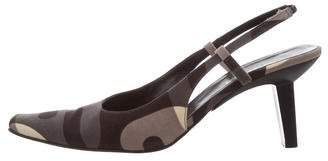 Sergio Rossi Canvas Slingback Pumps