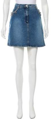 Blumarine Denim Mini Skirt