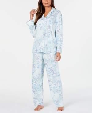 Miss Elaine Women's Knit Floral-Print Pajamas Set