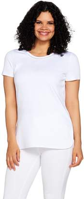 C. Wonder Essentials Pima Cotton Top with Curved Hi-Low Hem
