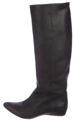 Maison Margiela Pointed-Toe Knee-High Boots Black Pointed-Toe Knee-High Boots