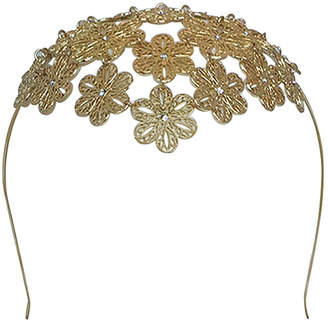 Olga Berg Reyna Floral Metal Headband