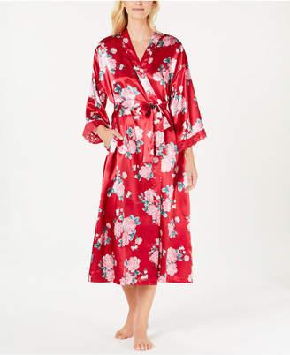 Thalia Sodi Floral-Print Long Wrap Robe
