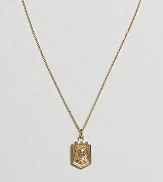 Asos Gold Plated Sterling Silver Vintage Style Icon Pendant Necklace