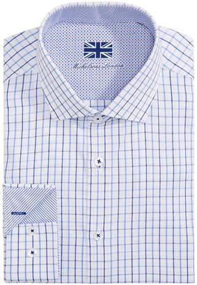 Michelsons of London Men Slim-Fit Check Dress Shirt