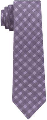 DKNY Men's Shadow Grid Silk Slim Tie