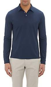 Zanone Men's Slub Polo Shirt - Navy