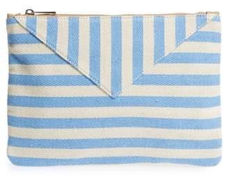 Sole Society Mini Panel Stripe Pouch
