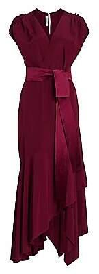 Silvia Tcherassi Women's Protea Stretch-Silk Wrap Gown