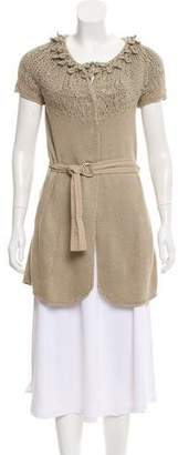 Brunello Cucinelli Longline Short Sleeve Cardigan