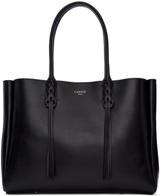 Lanvin Black Leather Small Shopper Bag $1,550 thestylecure.com