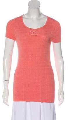 Chanel CC Rib Knit Top