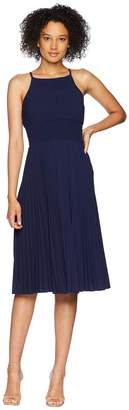 Maggy London Catalina Crepe Pleated and Smocked Sun Dress Women's Dress