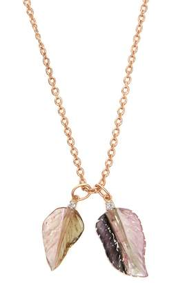 Irene Neuwirth Diamond, tourmaline & rose-gold necklace