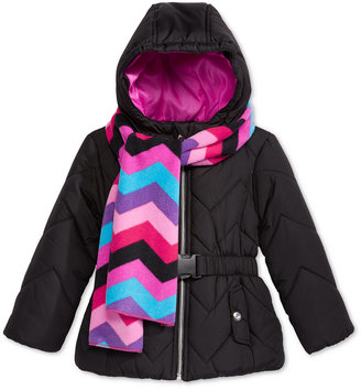 S. Rothschild 2-Pc. Quilted Puffer Jacket & Scarf Set, Toddler Girls (2T-4T) & Little Girls (2-6X) $80 thestylecure.com