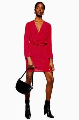 Topshop TALL Knot Front Mini Shift Dress