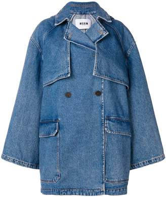 MSGM hooded denim coat