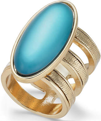 Thalia Sodi Gold-Tone Large Stone Triple Row Ring, Created for Macy's