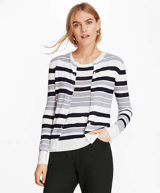 Brooks Brothers Striped Supima Cotton Cardigan