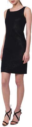 Akris Sleeveless Metallic Sheath Dress