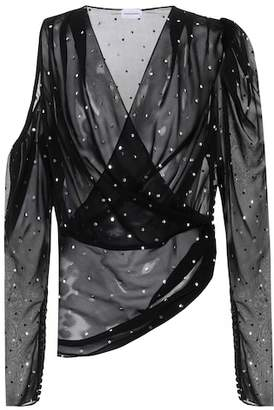 Magda Butrym Dresden sequined silk top