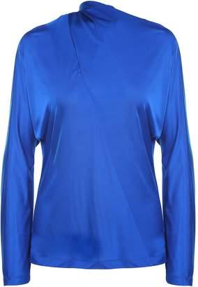 Cédric Charlier Tie-neck Shiny-jersey Blouse