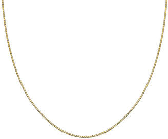 STERLING SILVER CHAINS Gold Over Sterling Silver 18 015 Gauge Box Chain