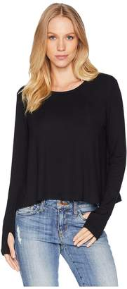 LnA Long Sleeve Crew with Thumb Holes Women's Clothing