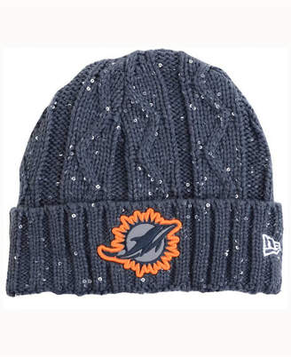 New Era Women's Miami Dolphins Frosted Cable Knit Hat