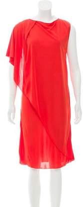 Bottega Veneta Draped Knee-Length Dress