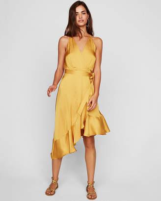 Express Ruffle Wrap Midi Dress
