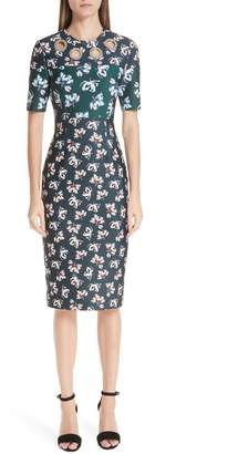 Yigal Azrouel Floral Print Scuba Body-Con Dress
