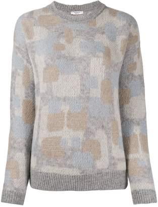 Peserico abstract-print jumper