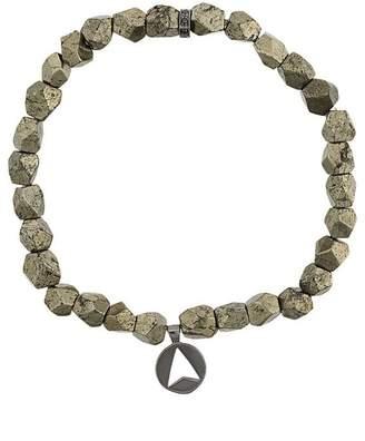 Northskull Pyrite Stone Insignia Charm bracelet