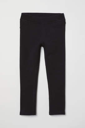 H&M Thick Jersey Leggings - Black