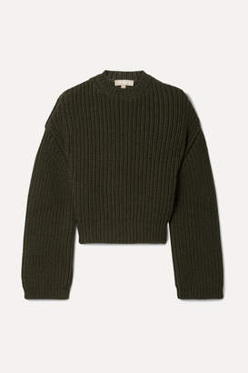 Michael Kors Ribbed Cashmere Sweater - Army green