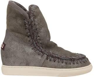 Mou Stitched High-cut Eskimo Boots