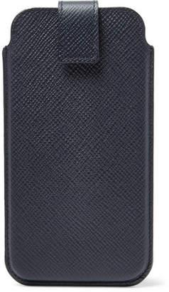 Smythson Panama Cross-Grain Leather Iphone 8 Case