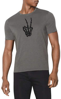 John Varvatos Skeleton Peace Sign Cotton T-Shirt
