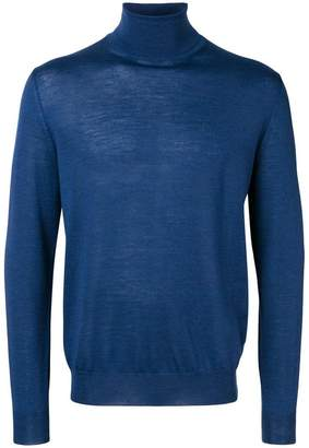 Canali roll-neck fitted sweater