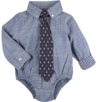 8ce8c3db G-Cutee Toddler Boys' Chambray Shirt with Anchor Tie