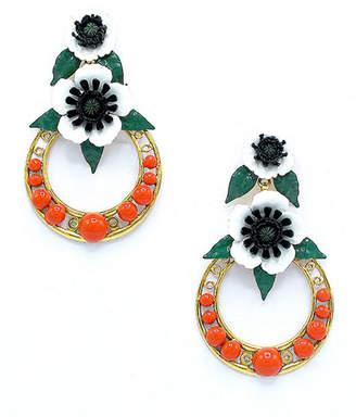 Elizabeth Cole Odessa Hoop Drop Earrings