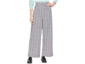 J.o.a. Glen Check Wide Leg Pants