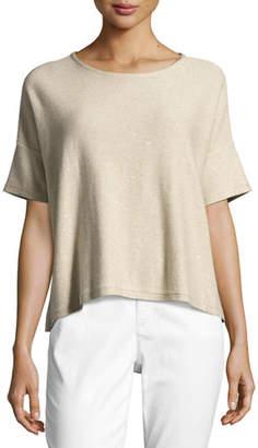 Eileen Fisher Organic Silk Sequined Top
