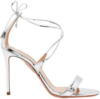 Aquazzura Linda Silver Sandals
